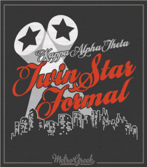 Theta Twin Star Formal Shirt Skyline