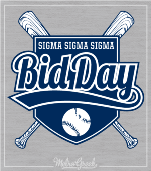 Tri Sigma Baseball Bid Day Shirt