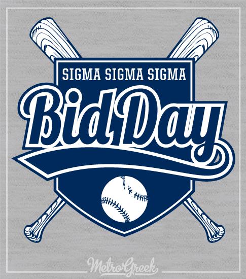 Tri Sigma Baseball Bid Day Shirt
