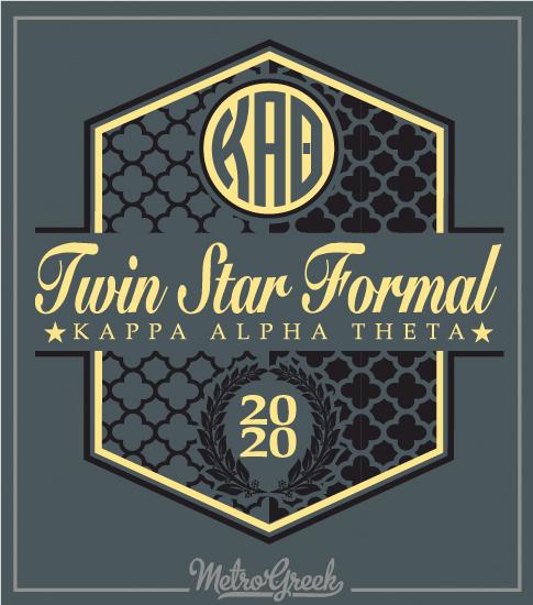 6704 Kappa Alpha Theta Twin Star Formal | Greek Shirts