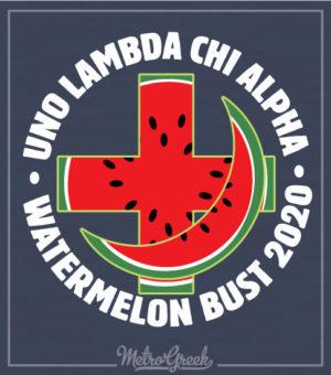 Watermelon Bust Shirt Cross and Crescent