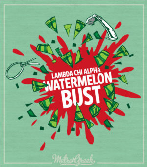 Watermelon Bust Shirt Lambda Chi