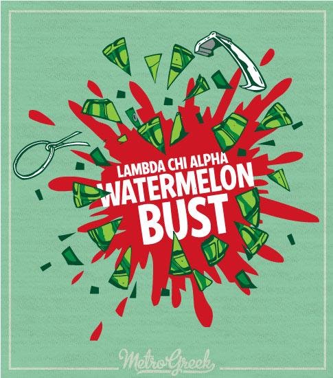 Watermelon Bust Shirt Lambda Chi