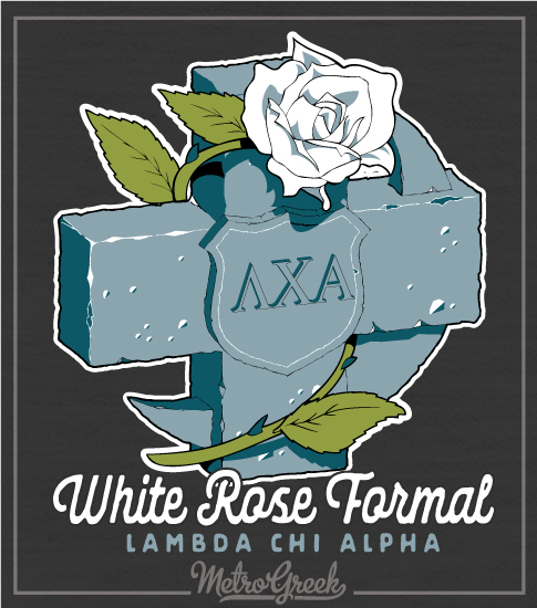 White Rose Formal Lambda Chi Shirt