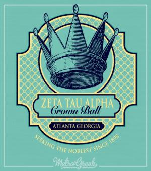 Zeta Tau Alpha Crown Ball Shirt