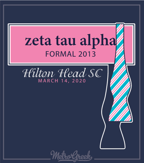 Zeta Tau Alpha Formal Shirt Preppy Tie