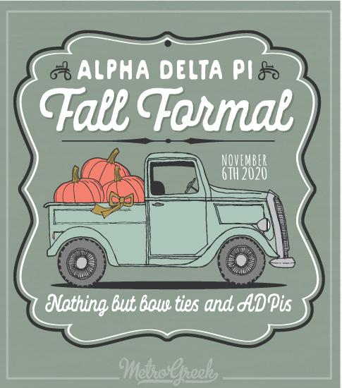 Alpha Delta Pi Fall Formal Shirt