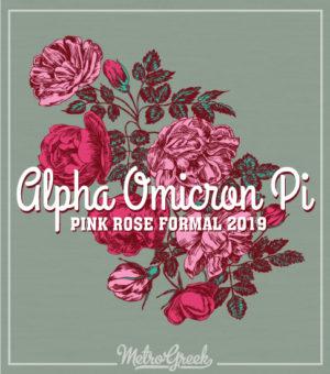 Alpha Omicron Pi Rose Formal Shirt
