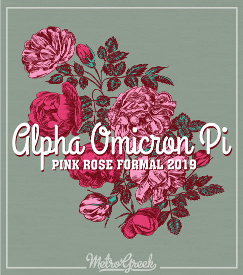 Alpha Omicron Pi Rose Formal Shirt