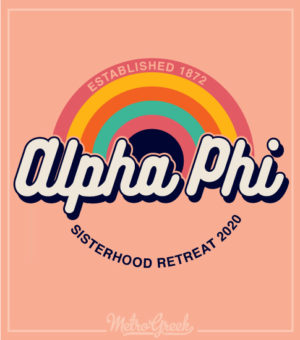 Alpha Phi Retro Seventies Shirt