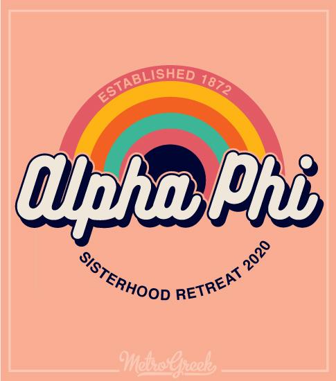 Alpha Phi Retro Seventies Shirt