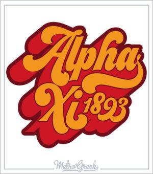 Alpha Xi Delta Retro Seventies Shirt