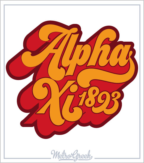 Alpha Xi Delta Retro Seventies Shirt