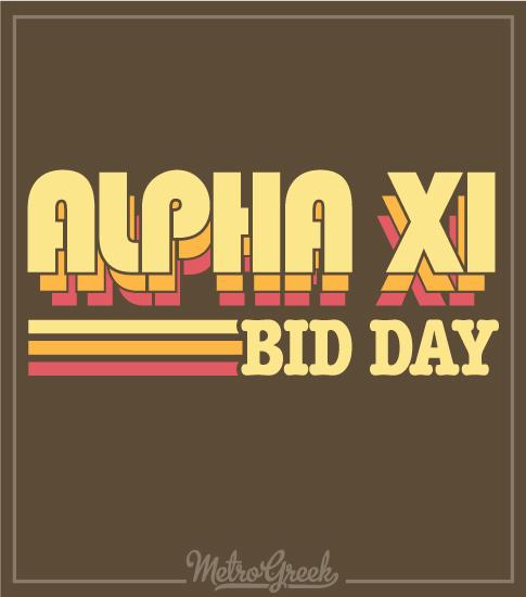 Alpha Xi Seventies Bid Day Shirt