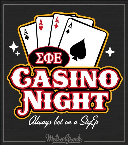 Sigma Phi Epsilon Casino Night Shirt