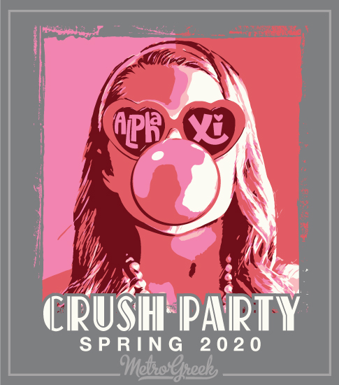 Crush Party Shirt Girl with Gum