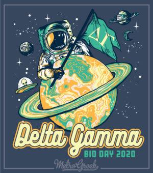 Delta Gamma Bid Day Shirt Astronaut