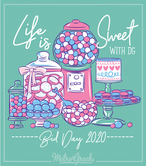 Delta Gamma Life is Sweet Bid Day Shirt