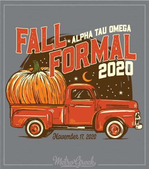 Fall Formal Shirt Pumpkin Truck