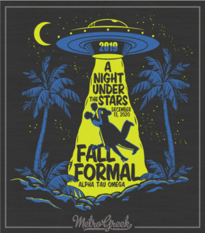 Fraternity Formal Shirt UFO Beam Up