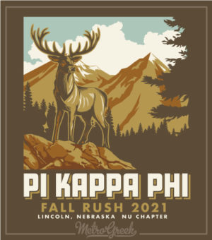 Fraternity Rush Shirt Mountain Scene
