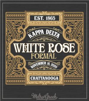Kappa Delta White Rose Formal Shirt