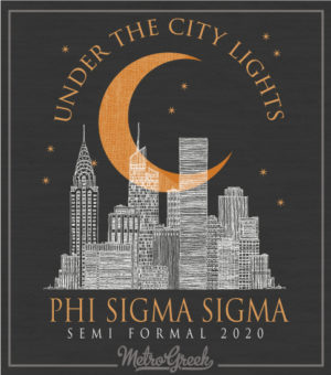 Phi Sigma Sigma Formal Shirt City