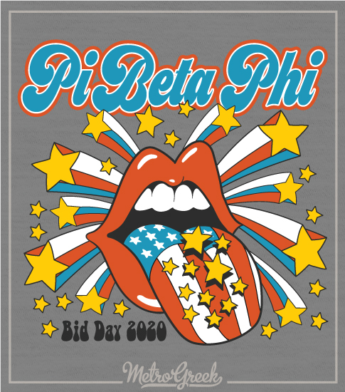 Pi Beta Phi Bid Day Shirt Stones