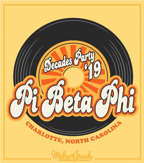 Pi Beta Phi Decade Party Shirt