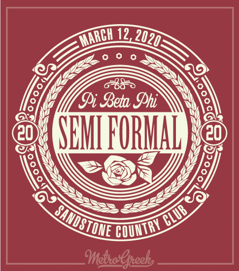 Pi Beta Phi Semi Formal Shirt with Circle