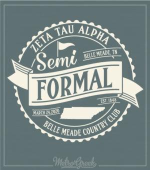 Semi Formal Shirt Banner and Circle