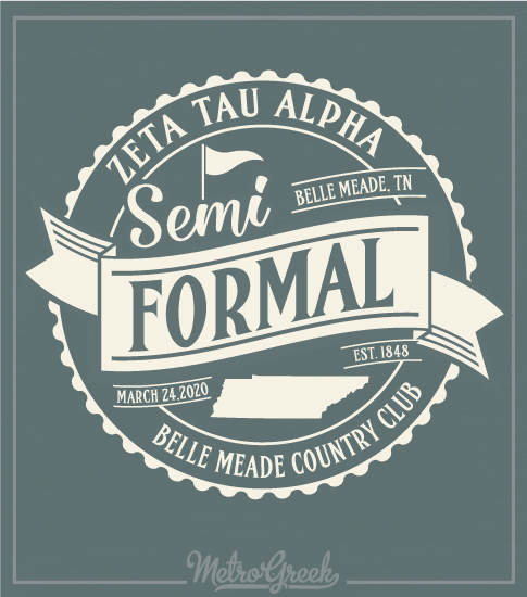 Semi Formal Shirt Banner and Circle