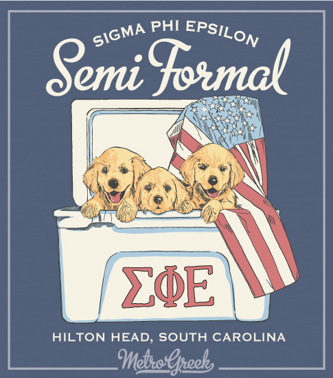 Sig Ep Formal Shirt Puppies and Cooler