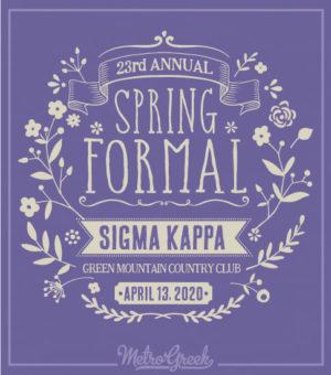 Sigma Kappa Formal Shirt Floral