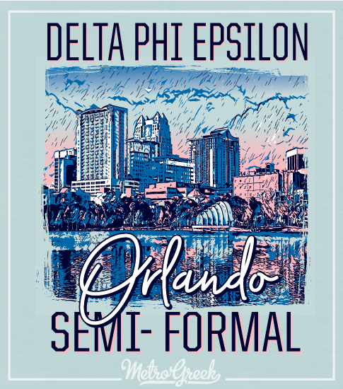 Sorority Formal Shirt City Scape