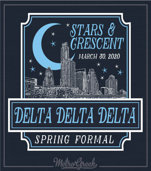 Tri Delta Stars and Crescent Formal Shirt