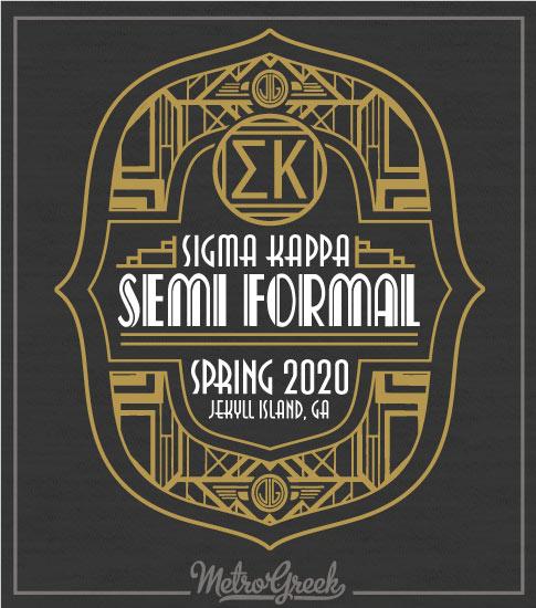 Twenties Sigma Kappa Formal Shirt
