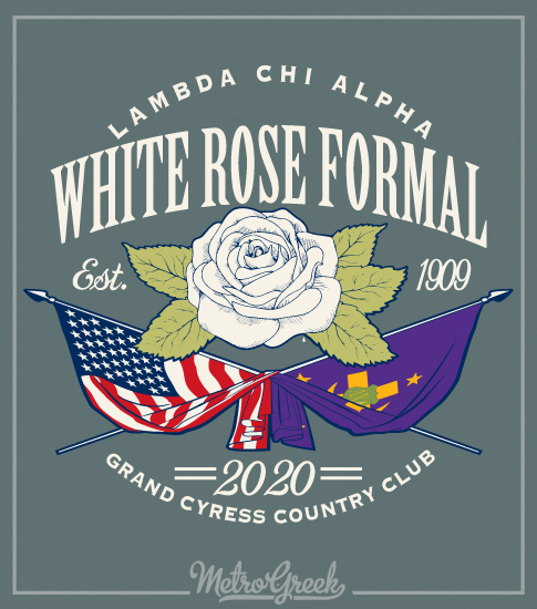 White Rose Formal Shirt Flags