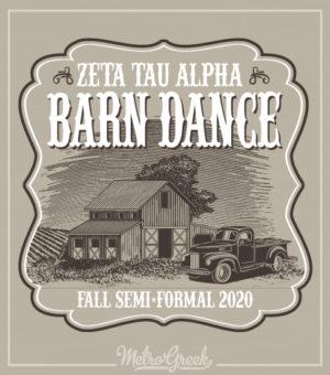 Zeta Tau Alpha Barn Dance Formal Shirt