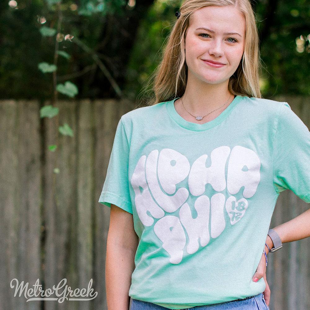 Alpha Phi Love Heart Shirt