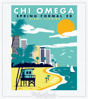 Chi Omega Spring Formal Shirt Beach