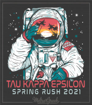 Fraternity Rush Shirt Teke Astronaut