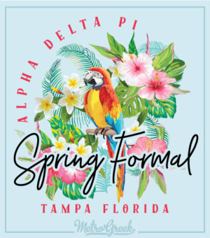 Spring Formal Shirt Tropical Parrot