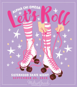 Alpha Chi Omega Skate Party Shirt