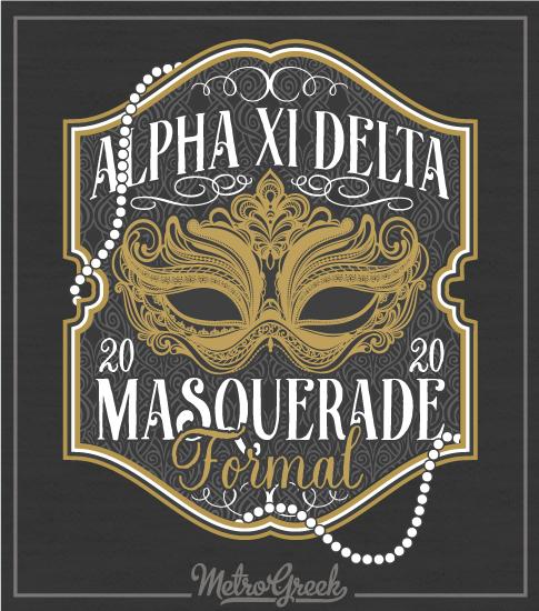 Alpha Xi Delta Masquerade Formal Shirt
