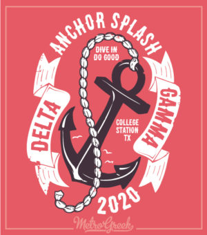 Anchor Splash Shirt Delta Gamma