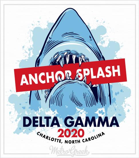 Delta Gamma Anchor Splash Shark Shirt