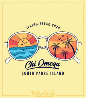 Chi Omega Spring Break Shirt Glasses