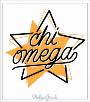 Chi Omega Star Sorority Shirt