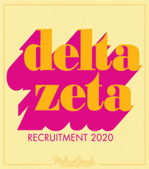 Delta Zeta Recruitment Shirts Font